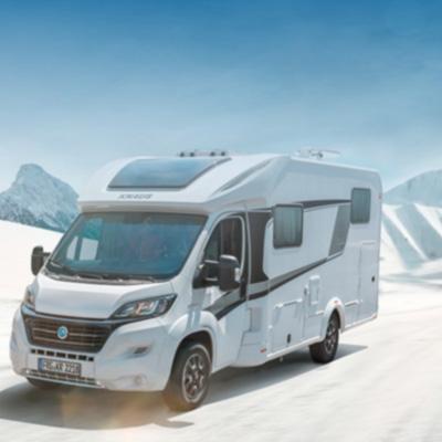 Viajes en caravana o autocaravana con lluvia, frío y nieve
