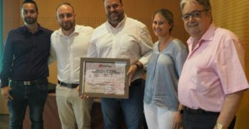 Diploma de honor, rendimiento y fidelidad. Sterckeman 2019