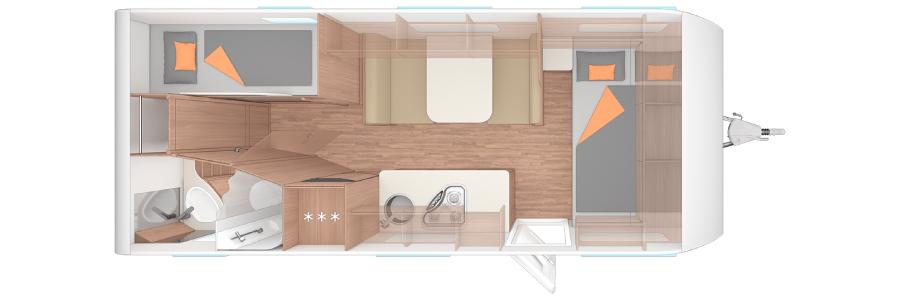 plano caravana tres ambientes